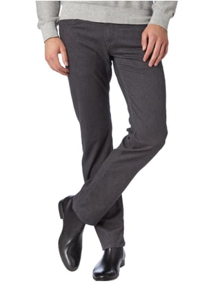 Baldessarini Regular Fit 5-Pocket-Hose mit feinem Webmuster Mittelgrau - 1