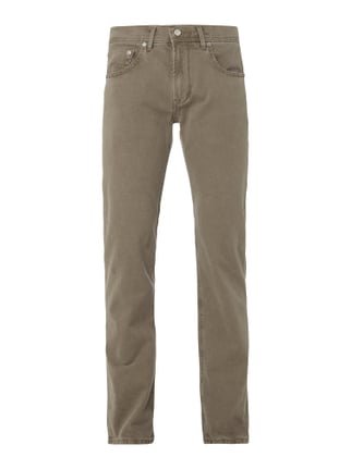 Regular Fit 5-Pocket-Hose mit Webstruktur Weiß - 1