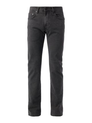 Regular Fit 5-Pocket-Hose mit Webstruktur Grau / Schwarz - 1