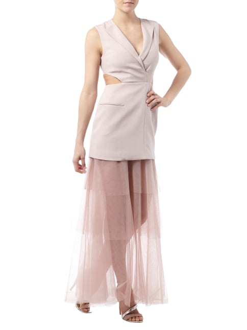 BCBG Max Azria Abendkleid im Rock-Top-Look mit Cut Out in Rosé - 1