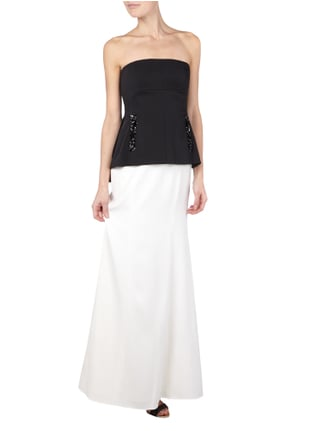BCBG Max Azria Abendkleid im Rock-Top-Look in Weiß - 1