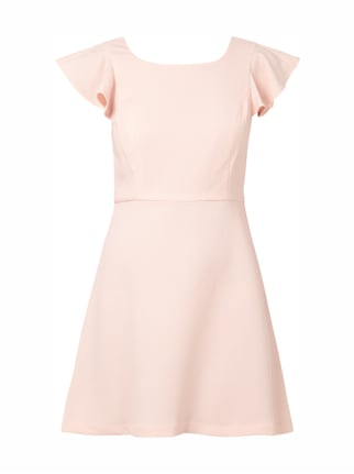 Cocktailkleid mit Volants Rosé - 1