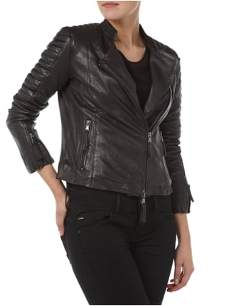 BE EDGY RED Lederjacke im Biker-Look Schwarz - 1