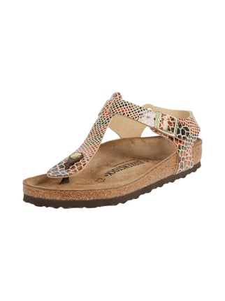 Sandalen in Snake-Optik Weiß - 1