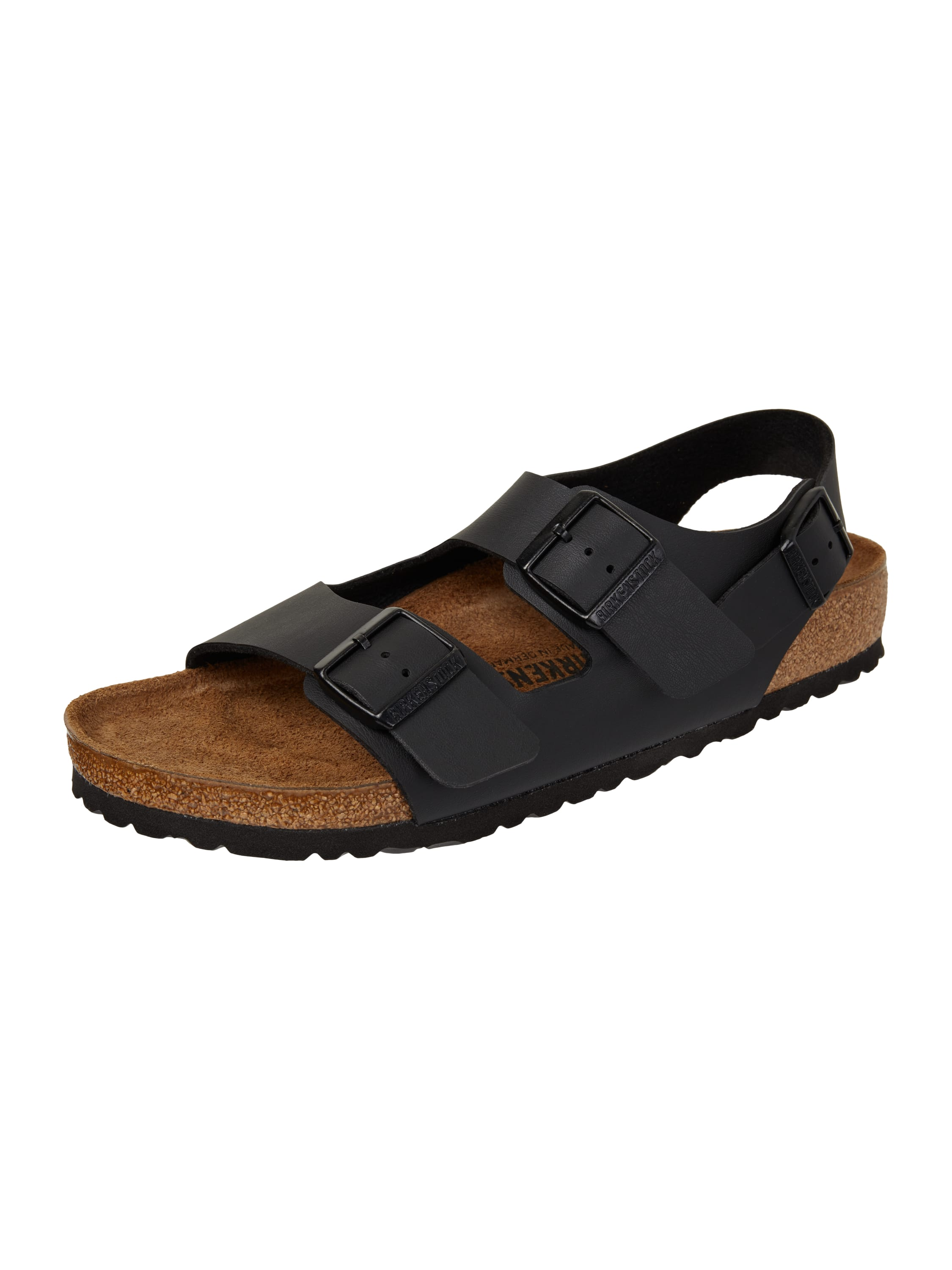 birkenstock sandalen mit ergonomischem fu bett in grau. Black Bedroom Furniture Sets. Home Design Ideas