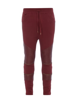 Sweatpants im Biker-Look Rot - 1