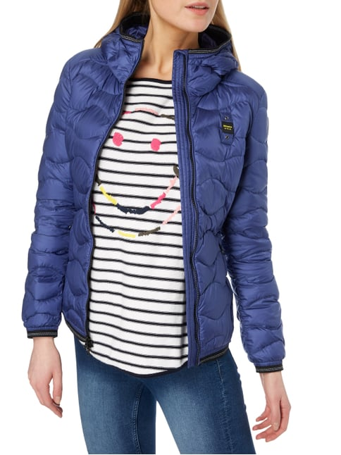 Blauer Usa Light-Daunenjacke mit Steppmuster Blau - 1