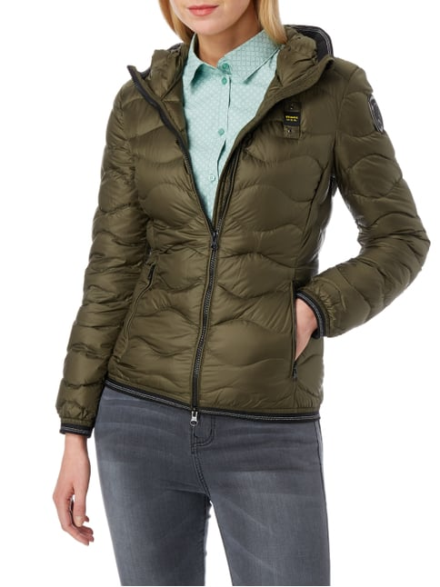 Blauer Usa Light-Daunenjacke mit Steppmuster Khaki - 1