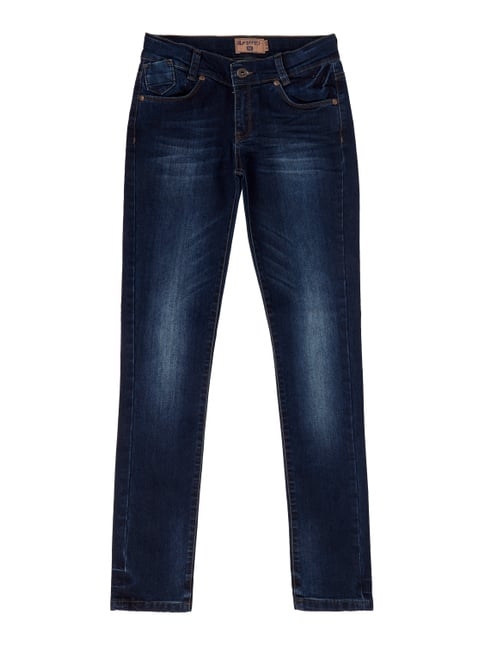 Stone Washed Super Skinny Fit Jeans Blau / Türkis - 1