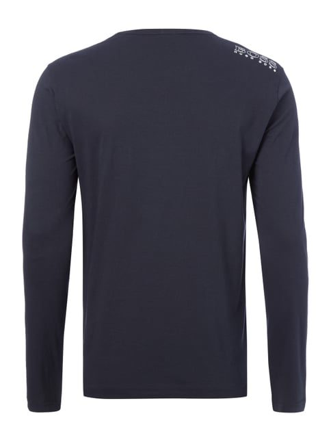 Boss Green Regular Fit Longsleeve aus reiner Baumwolle Marineblau - 1