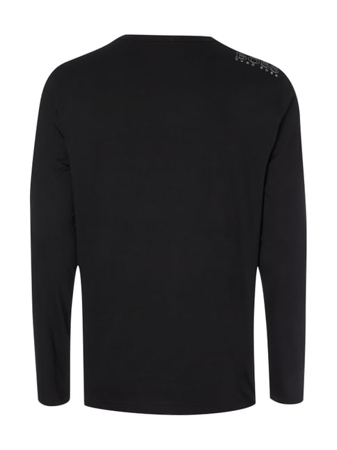 Boss Green Regular Fit Longsleeve aus reiner Baumwolle Schwarz - 1
