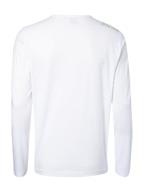 Boss Green Regular Fit Longsleeve aus reiner Baumwolle Weiß - 1