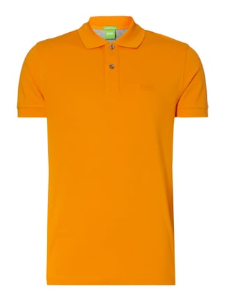 Regular Fit Poloshirt aus reiner Baumwolle Orange - 1