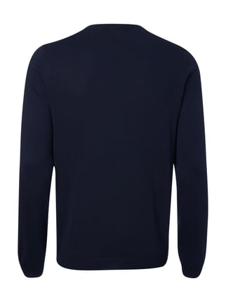 Boss Green Regular Fit Pullover aus reiner Baumwolle Marineblau - 1