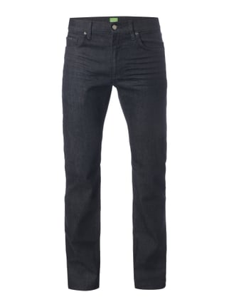 Rinsed Washed Slim Fit Jeans mit Stretch-Anteil Blau / Türkis - 1