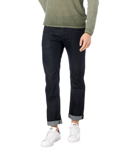 Boss Green Rinsed Washed Slim Fit Jeans mit Stretch-Anteil Dunkelblau - 1