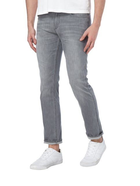 Boss Green Stone Washed 5-Pocket-Jeans Silber - 1