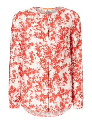 Bluse mit floralem Muster Rot - 1