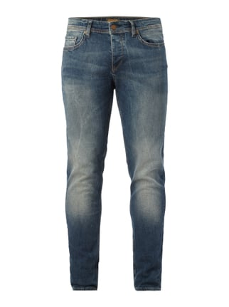 Double Stone Washed Tapered Fit Jeans Blau / Türkis - 1