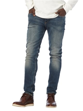 Boss Orange Double Stone Washed Tapered Fit Jeans Dunkelblau - 1