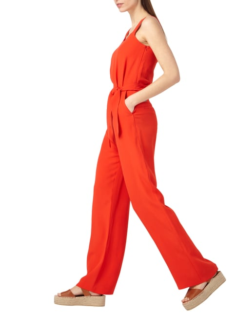 Boss Orange Jumpsuit mit Taillenband zum Binden in Rot - 1