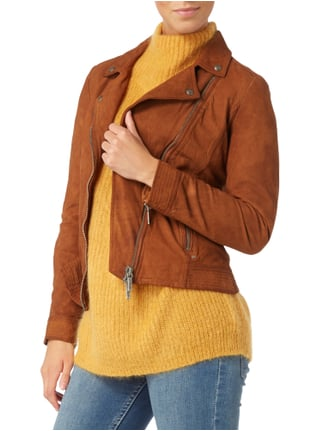 Boss Orange Lederjacke im Biker-Look Camel - 1