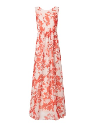 Maxikleid mit floralem Allover-Muster Orange - 1