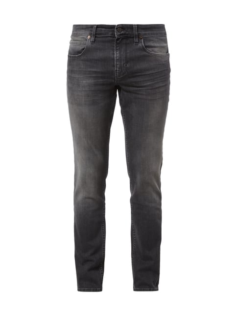 Slim Fit 5-Pocket-Jeans im Stone Washed-Look Grau / Schwarz - 1