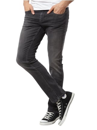 Boss Orange Slim Fit 5-Pocket-Jeans im Stone Washed-Look Mittelgrau - 1