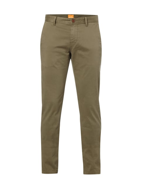 Slim Fit Chino mit Stretch-Anteil Grün - 1