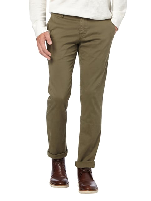 Boss Orange Slim Fit Chino mit Stretch-Anteil Olivgrün - 1