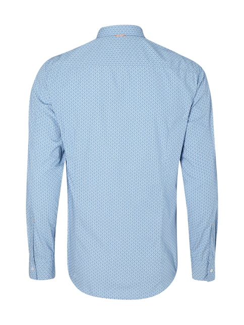 Boss Orange Slim Fit Freizeithemd mit Button-Down-Kragen Royalblau - 1
