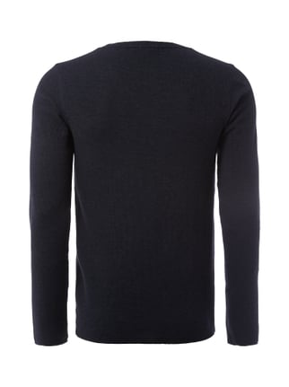 Boss Orange Slim Fit Longsleeve mit Webstruktur Dunkelblau - 1