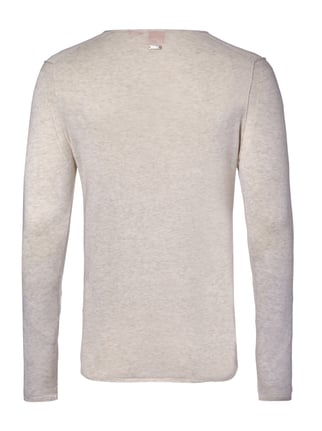 Boss Orange Slim Fit Pullover im Feinstrick Beige - 1