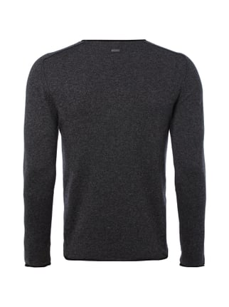 Boss Orange Slim Fit Pullover im Feinstrick - meliert Anthrazit meliert - 1