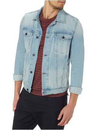 Boss Orange Stone Washed Jeansjacke Türkis - 1