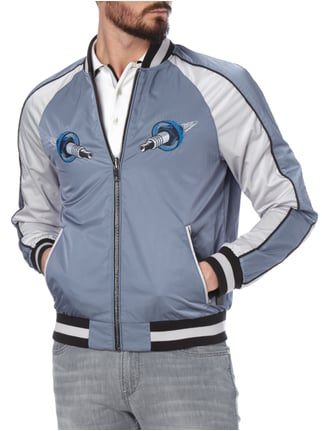 Boss Orange Wende-Bomber mit Stickereien Marineblau - 1