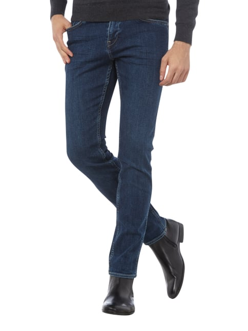 Boss Slim Fit 5-Pocket-Jeans mit Stretch-Anteil Dunkelblau meliert - 1