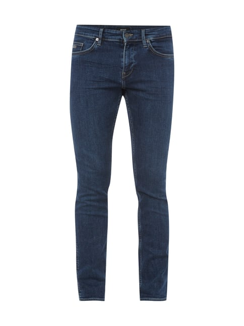 Slim Fit 5-Pocket-Jeans mit Stretch-Anteil Blau / Türkis - 1