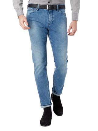 Boss Stone Washed Regular Fit 5-Pocket-Jeans Blau - 1