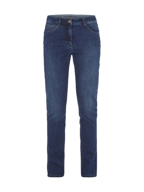 5-Pocket-Jeans im Slim Fit Blau / Türkis - 1