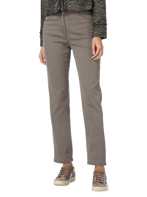 Brax Coloured Feminine Fit 5-Pocket-Jeans Taupe - 1