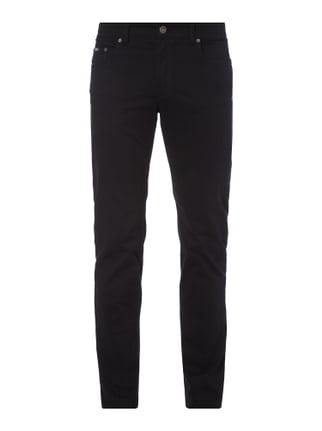 Regular Fit 5-Pocket-Hose mit Stretch-Anteil Grau / Schwarz - 1