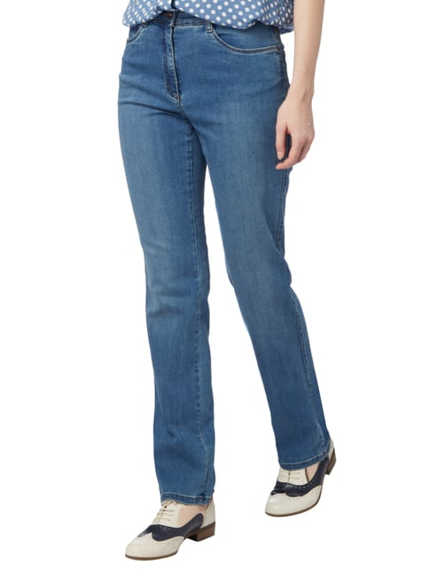 Brax Stone Washed Jeans mit Stretch-Anteil Jeans meliert - 1