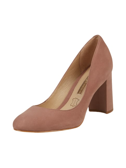 Pumps aus Veloursleder Rosé - 1