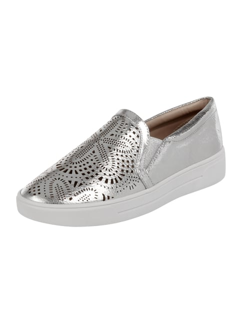 Slip-On Sneaker in Metallicoptik Grau / Schwarz - 1