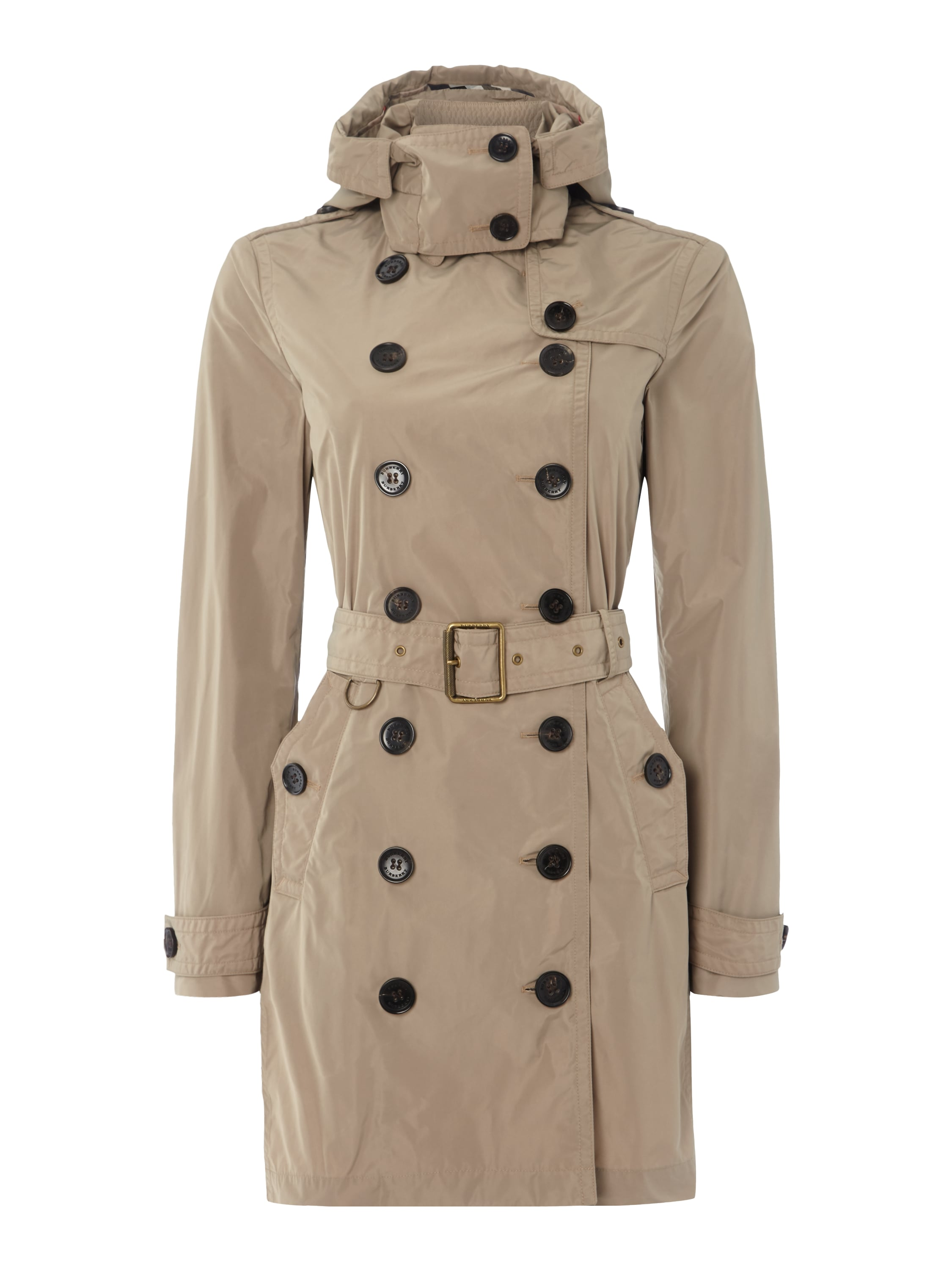 burberry brit trenchcoat mit tailleng rtel in braun online. Black Bedroom Furniture Sets. Home Design Ideas