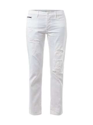 Slim Boyfriend Fit Coloured Jeans Weiß - 1
