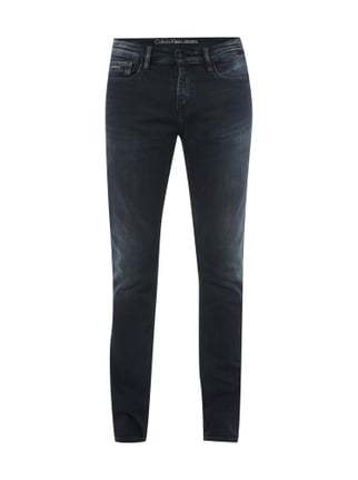 Stone Washed Jeans im Slim Fit Blau / Türkis - 1