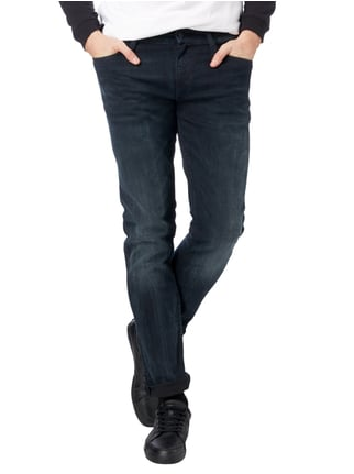 Calvin Klein Jeans Stone Washed Slim Fit 5-Pocket-Jeans Dunkelblau - 1